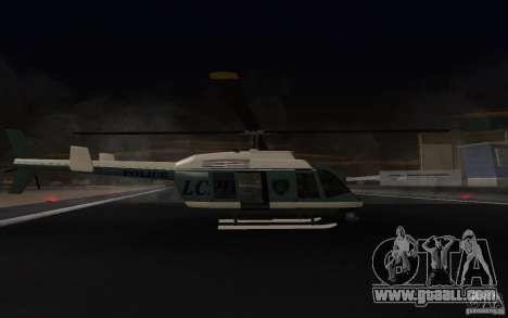 GTA IV Police Maverick for GTA San Andreas back left view