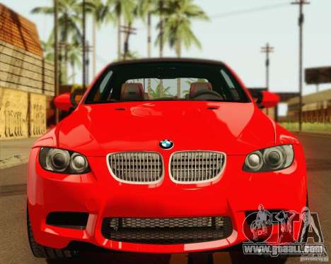 BMW M3 E92 v2.0 for GTA San Andreas back view