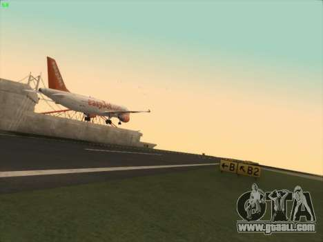Airbus A320-214 EasyJet for GTA San Andreas back view