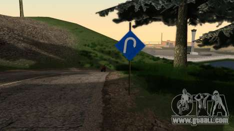 New road signs for GTA San Andreas second screenshot