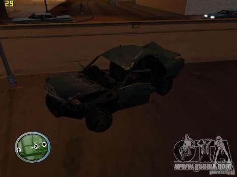 Broken cars on Grove Street for GTA San Andreas seventh screenshot