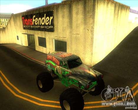 Grave Digger for GTA San Andreas back view