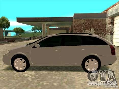 Nissan Primera Wagon for GTA San Andreas back left view