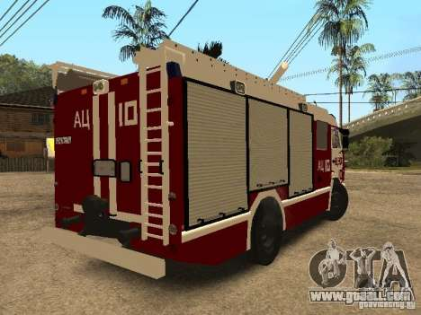 KAMAZ 43253 Rozenbauer for GTA San Andreas back left view