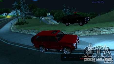 FBI Huntley 4x4 for GTA San Andreas back left view