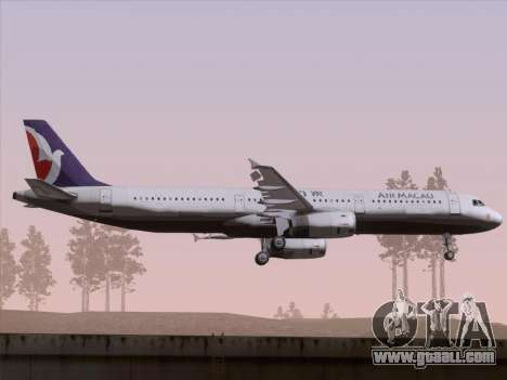 Airbus A321 Air Macau for GTA San Andreas back view