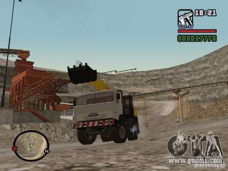 Kamaz UDS for GTA San Andreas back left view