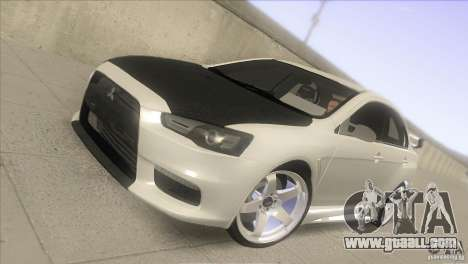 Mitsubishi Lancer Evo IX DIM for GTA San Andreas