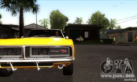 Dodge Charger RT 1969 for GTA San Andreas inner view