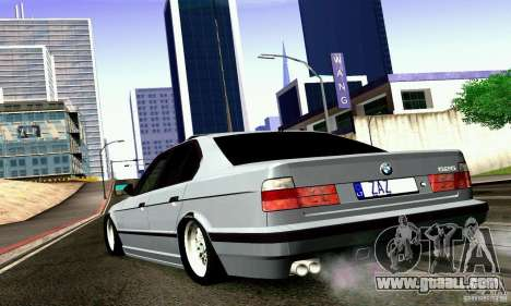 BMW E34 525i for GTA San Andreas left view