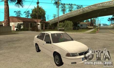 Daewoo Nexia for GTA San Andreas back view