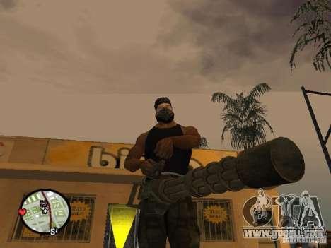 M134 Minigun from CoD: Mw2 for GTA San Andreas third screenshot