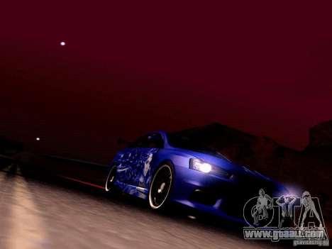 Mitsubishi Lancer EVO X Juiced2 HIN for GTA San Andreas upper view