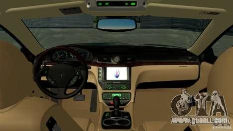 Maserati Gran Turismo 2008 for GTA San Andreas back left view
