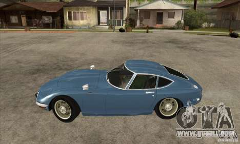 Toyota 2000GT for GTA San Andreas left view