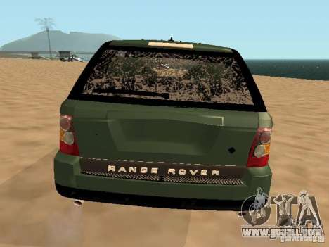 Land Rover Range Rover Sport for GTA San Andreas upper view