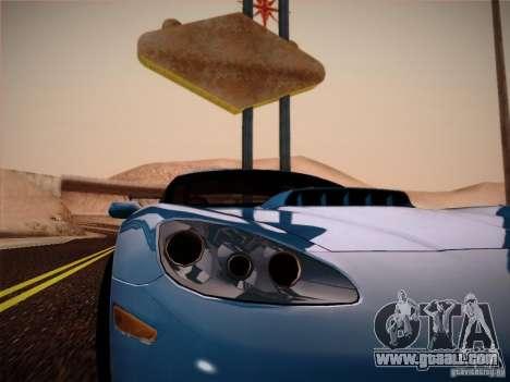 Chevrolet Corvette C6 for GTA San Andreas back view