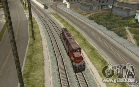 CN SD40 ZEBRA STRIPES for GTA San Andreas right view