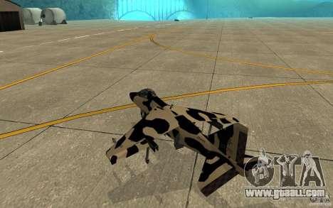 Camo Hydra for GTA San Andreas right view