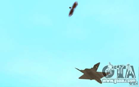 YF-23 for GTA San Andreas inner view