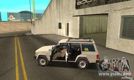 Jeep Grand Cherokee 1986 for GTA San Andreas engine