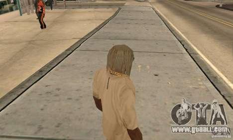 Long blonde hair for GTA San Andreas second screenshot