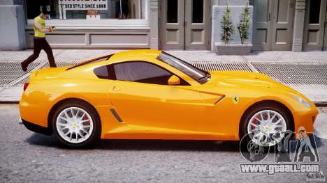 Ferrari 599 GTB Fiorano for GTA 4 bottom view