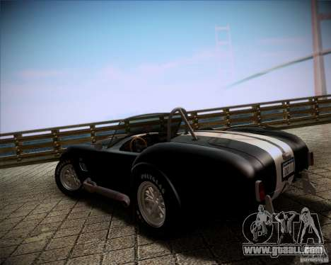 Shelby Cobra 427 Full Tunable for GTA San Andreas left view