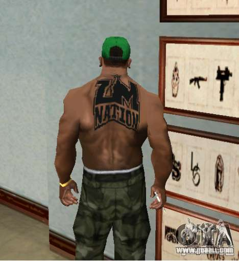 tattoo NATION ZM for GTA San Andreas