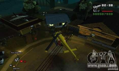 Helitours Maverick from GTA 4 for GTA San Andreas inner view