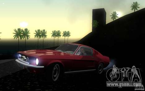 Ford Mustang 1967 American tuning for GTA San Andreas left view