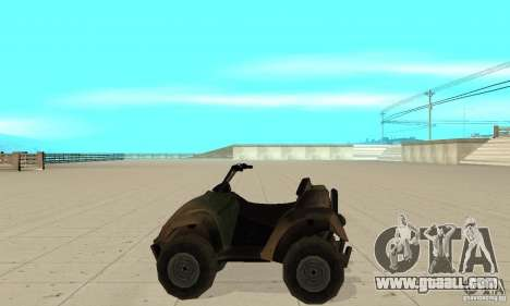 ATV from TimeShift for GTA San Andreas left view