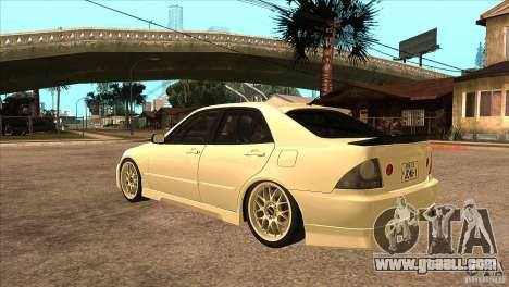 Toyota Altezza RS200 JDM Style for GTA San Andreas back left view