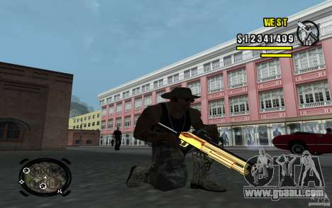 Gold Weapon Pack v 2.1 for GTA San Andreas second screenshot