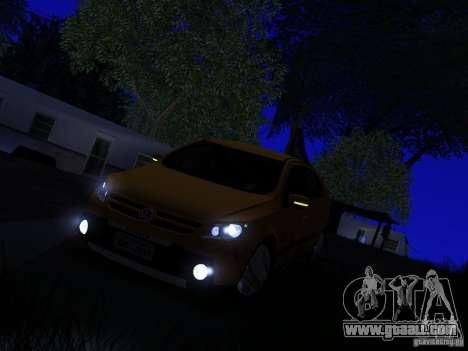 Volkswagen Gol Rallye 2012 for GTA San Andreas back view