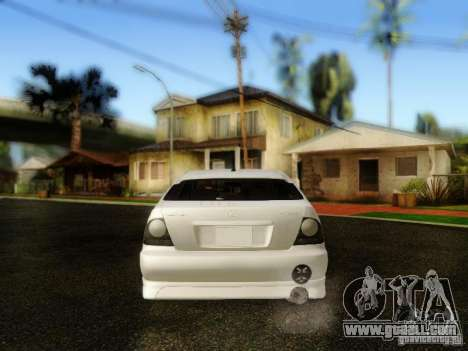Lexus IS300 Jap style for GTA San Andreas back view