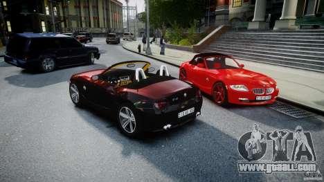BMW Z4 Roadster 2007 i3.0 Final for GTA 4 bottom view