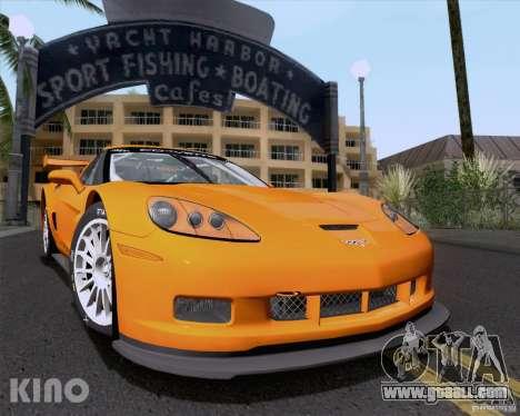 Chevrolet Corvette C6 Z06R GT3 v1.0.1 for GTA San Andreas upper view