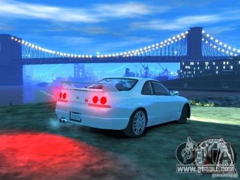 Nissan Skyline GT-R V-Spec (R33) 1997 for GTA 4 right view