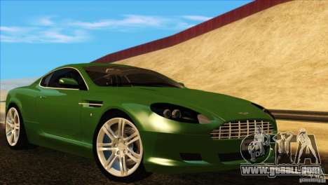 Aston Martin DB9 for GTA San Andreas interior