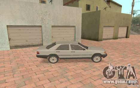 Mercedes-Benz E200 W124 for GTA San Andreas back left view