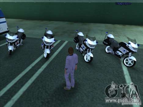 CopBike for GTA San Andreas left view