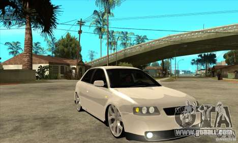 Audi A3 for GTA San Andreas back view