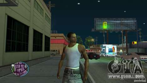 GTA IV HUD for a wide screen (16: 9) for GTA San Andreas