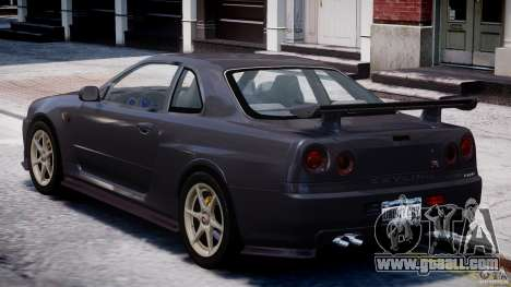 Nissan Skyline GT-R 34 V-Spec for GTA 4 right view