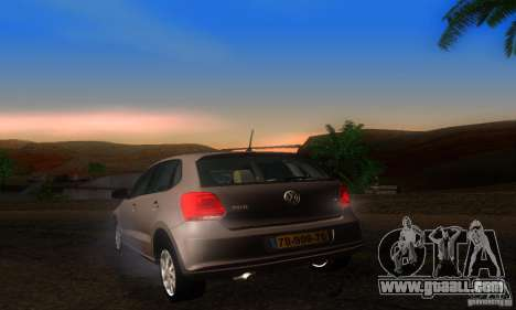 Volkswagen Polo 1.2 TSI for GTA San Andreas back left view