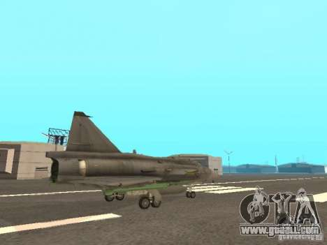 Saab JA-37 Viggen for GTA San Andreas inner view