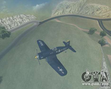 Aereo Corsair F4U1D for GTA San Andreas left view