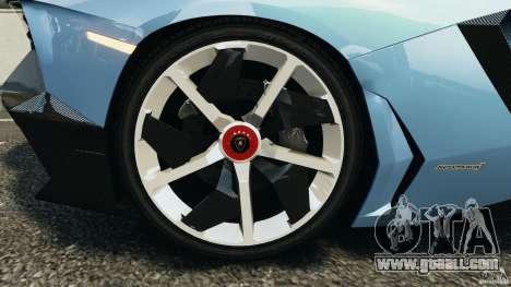 Lamborghini Aventador J 2012 for GTA 4 side view