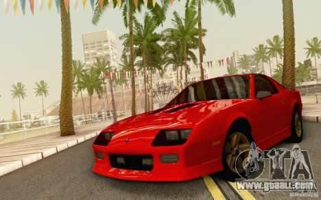 Chevrolet Camaro Z28 Targa Top 1986 for GTA San Andreas